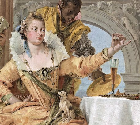 Detail from Tiepolo's Banquet of Cleopatra