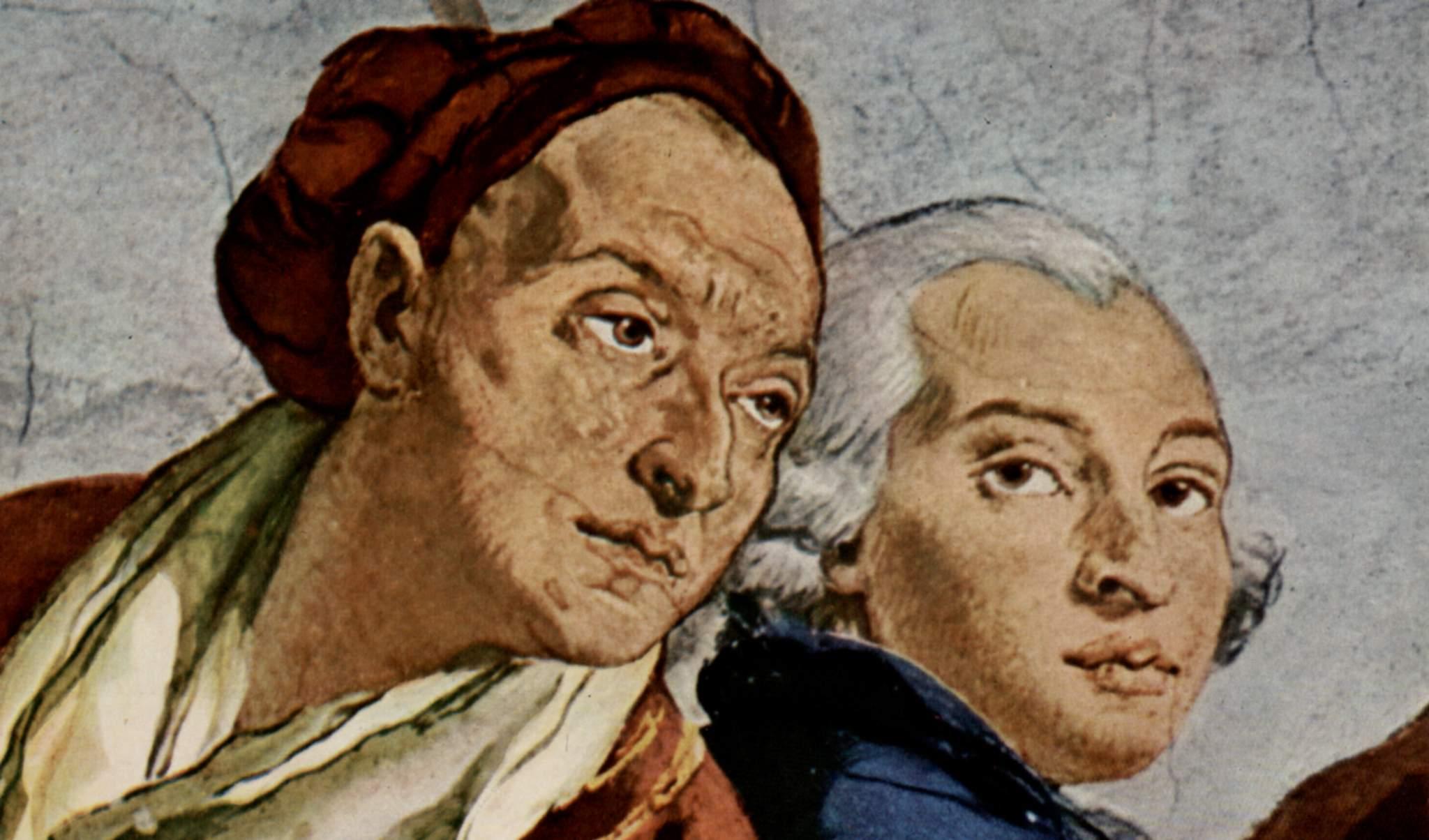 Giambattista Tiepolo and Domenico Tiepolo double portait