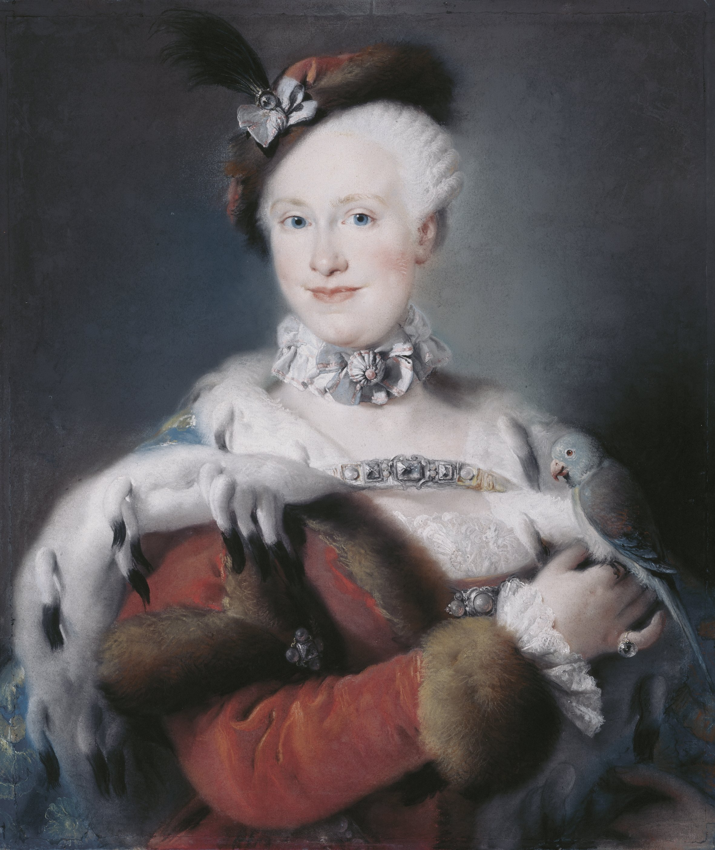 pastel Portrait of the Infanta Maria Louisa by Lorenzo Tiepolo