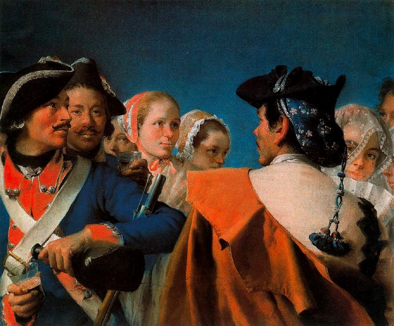 Tipos populares, pastel by Lorenzo Tiepolo