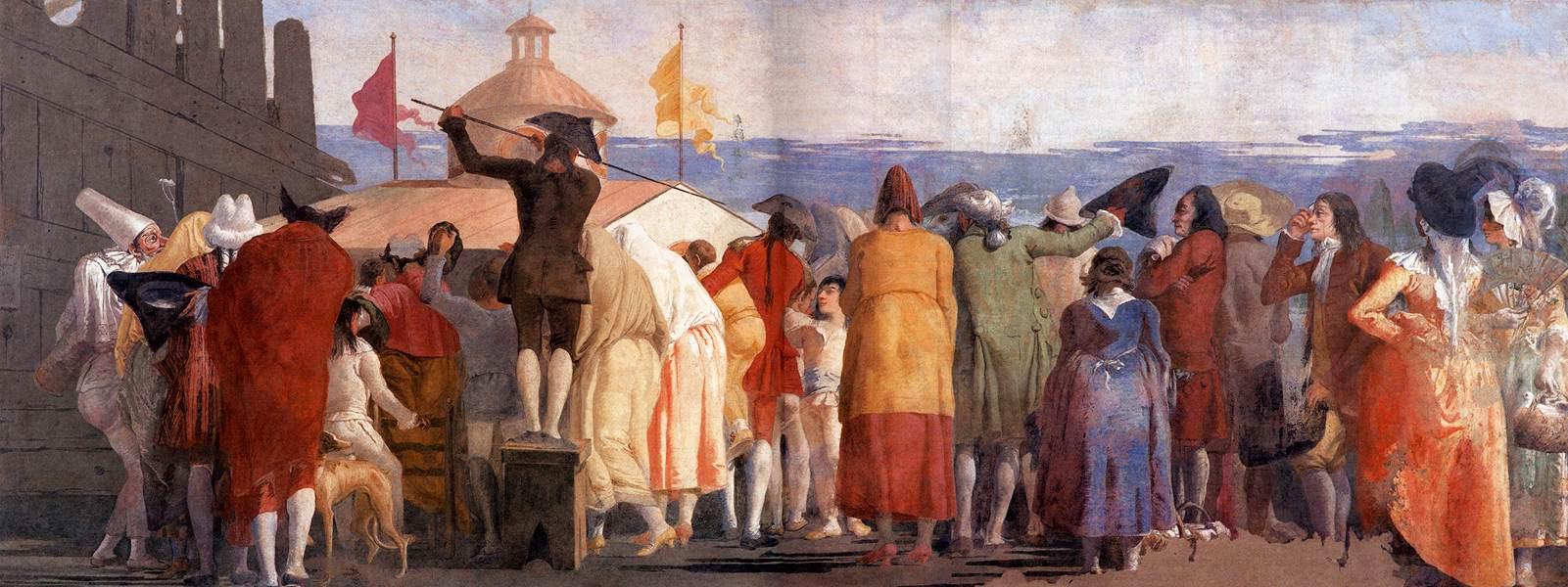 Mundo Novo fresco by Domenico Tiepolo