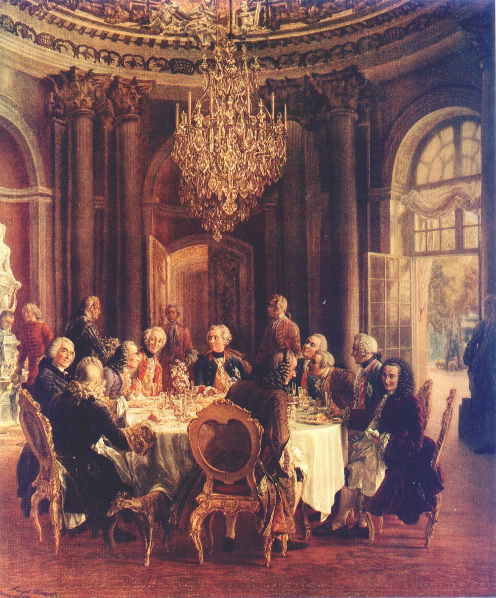 Painting of Frederick the Great's Roundtable by Aldoph von Menzel